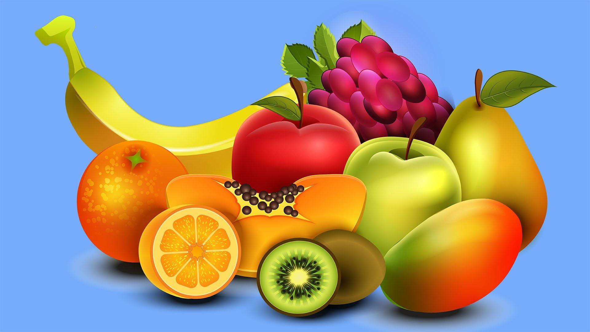 Надпись к картинке с фруктами