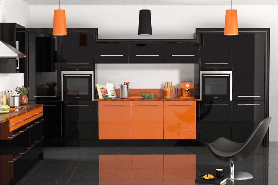Black/orange Kitchen