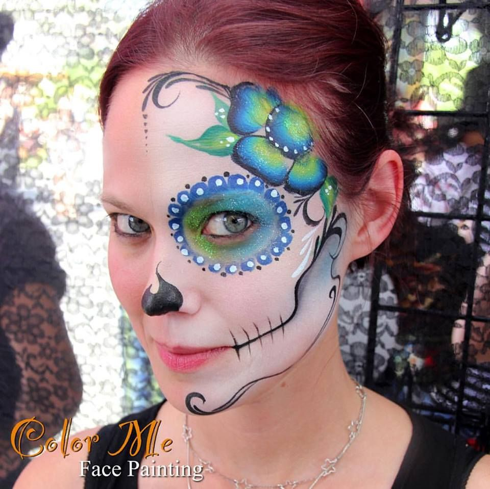 Sugar Skull Makeup - Color Me Face Painting - Vanessa Mendoza ...