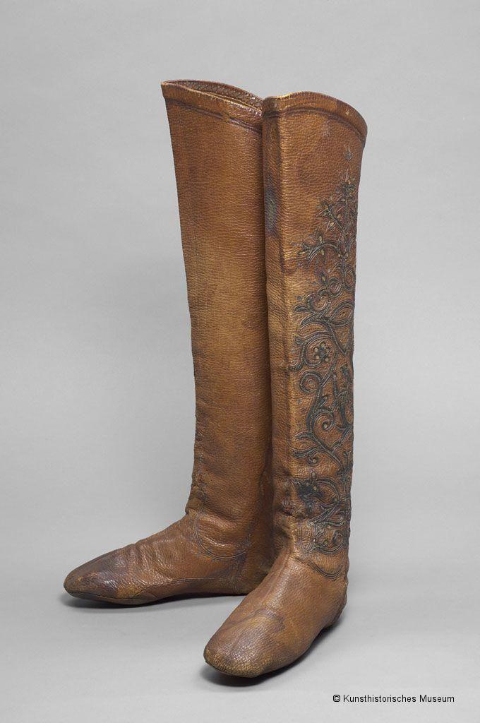 a9acbff16b4fb 16th century Ottoman leather boots | 15-17th Century Ottoman Turkish ...