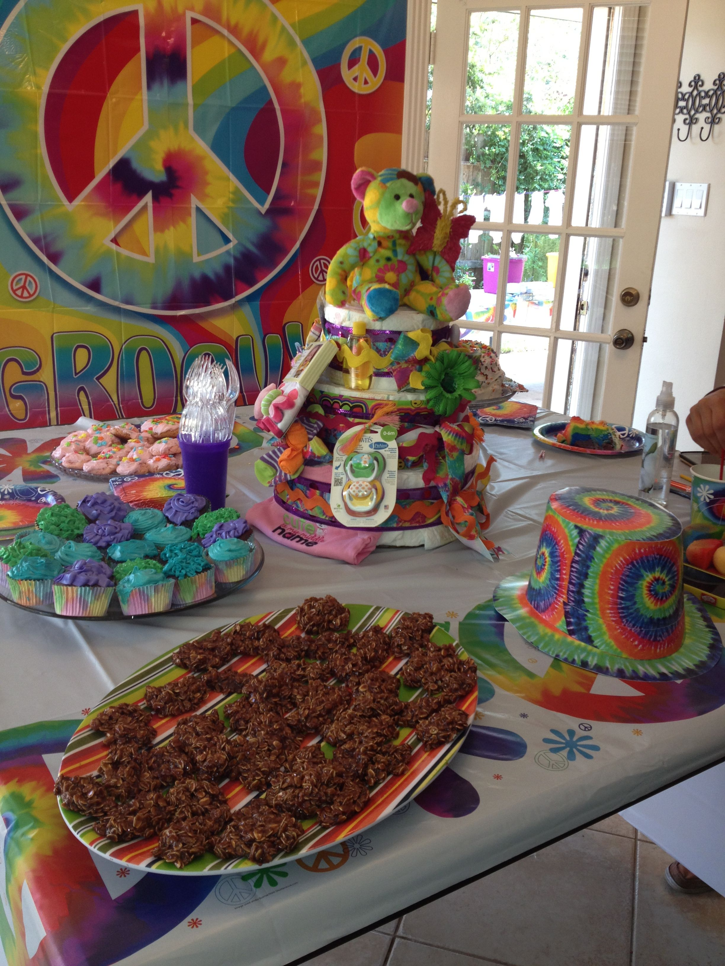 Decoraciones Hippies Hippie Baby Shower Table Candy Bar Pinterest Bebe