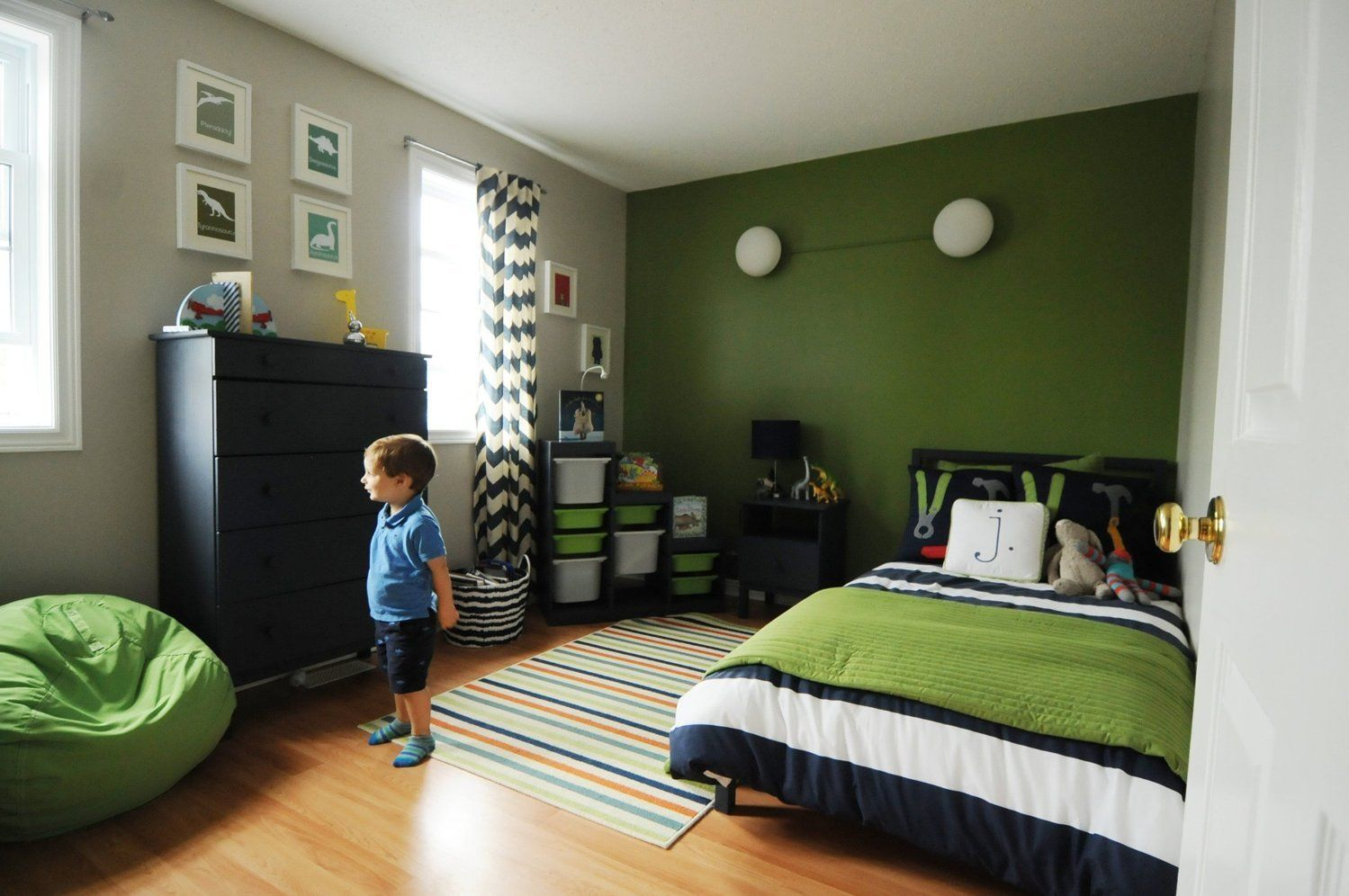 Joseph S Champagne Toddler Room On A Beer Budget Green Boys Room Big Boy Room Bedroom Green