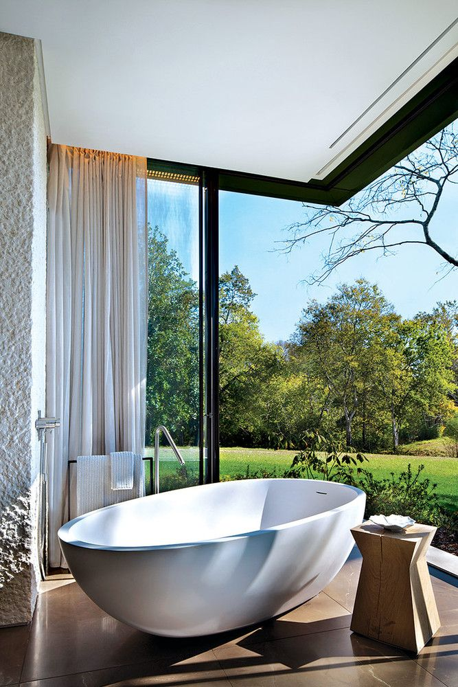 La tina | Cuartos de baño al aire libre, Diseño de ...
