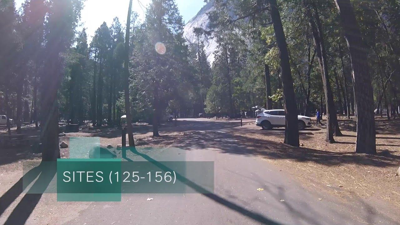 Drive Thru Video of UPPER Pines Campground - Yosemite ...