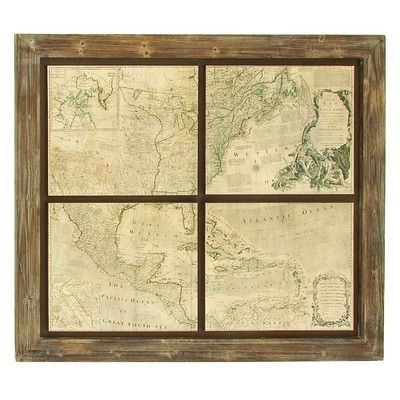 Cole & Grey Map Wall Décor | Products