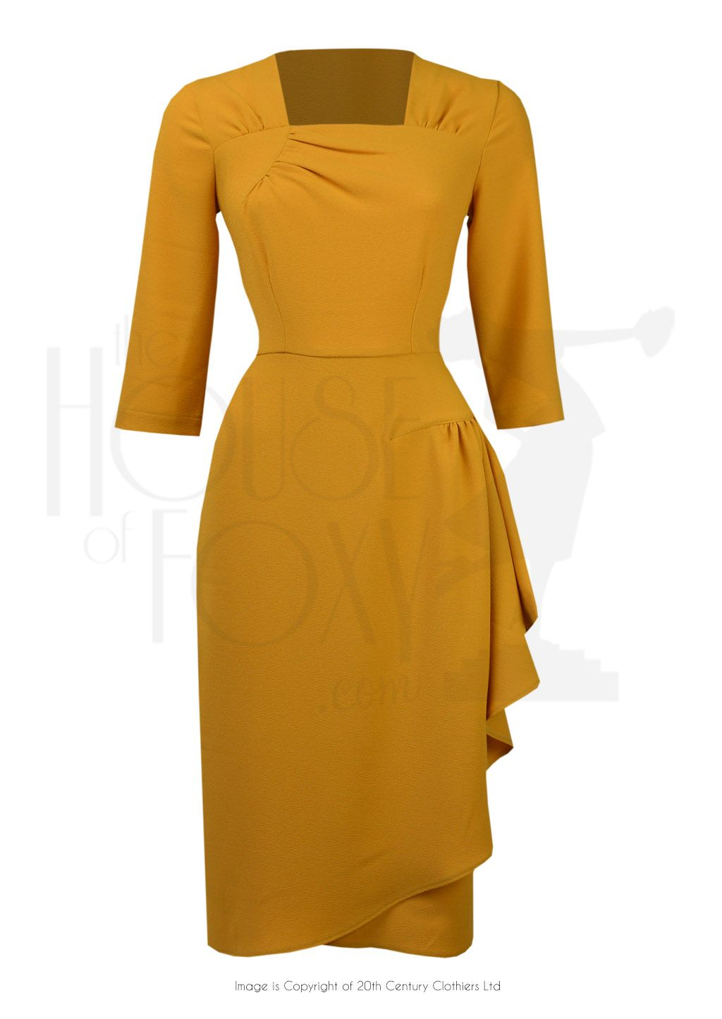 40s O Hara Cocktail Dress Mustard Fall Cocktail Dress Retro Fashion Outfits Cocktail Dress Vintage [ 1446 x 1024 Pixel ]