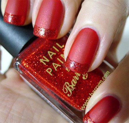 Simple Red Wedding Nail Art Designs Ideas 2014 Fabulous Nail