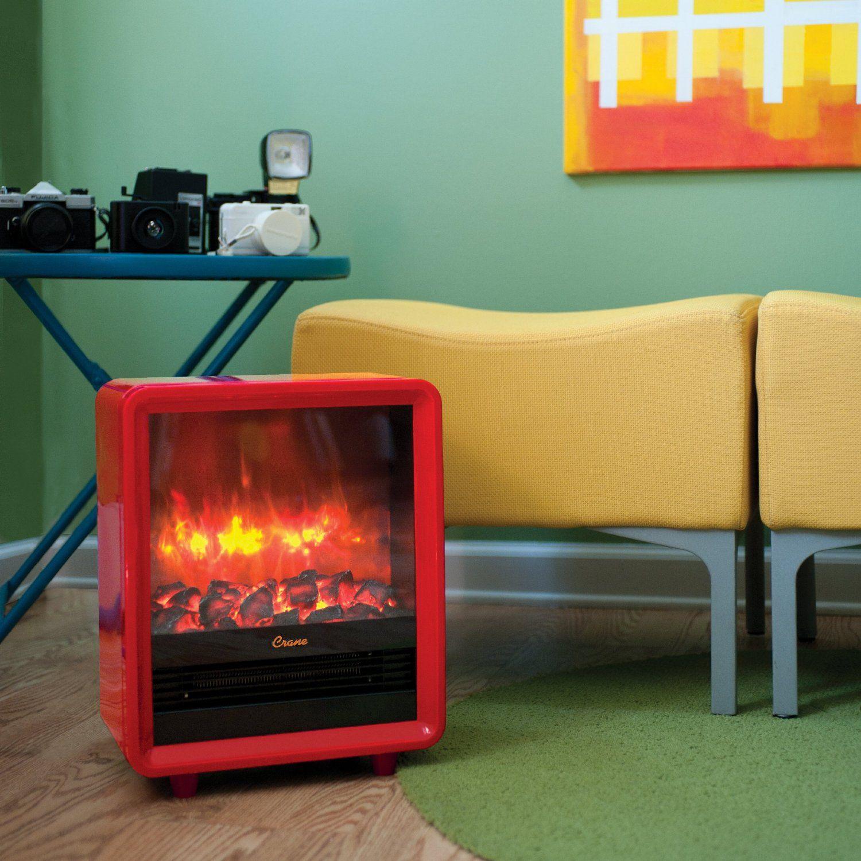 Amazon Com Crane Mini Fireplace Heater Orange Space Heaters