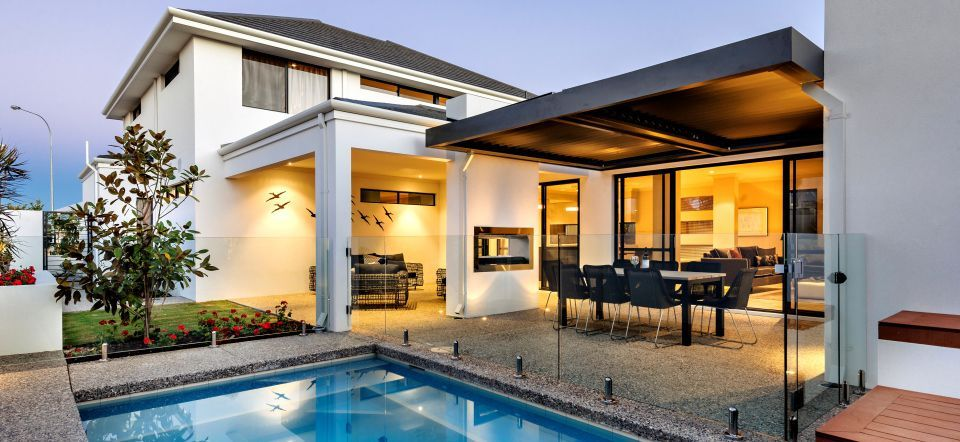 apg Homes - Opus two storey display home pool and alfresco ...