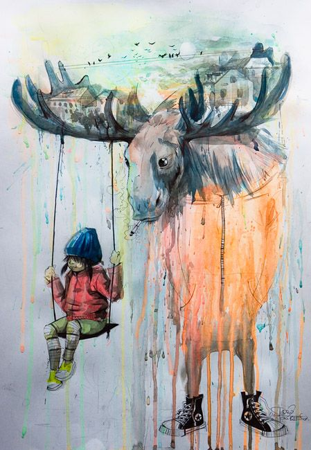 Abduzeedo Com Seriously Cool Watercolor Paintings
