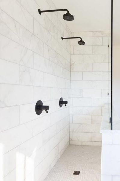 His And Her Shower Heads Design With Images Shower Wall Tile