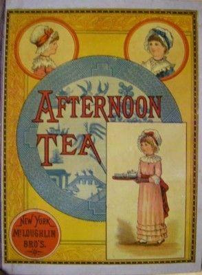 AFTERNOON TEA PLEASANT RHYMES  McLoughlin Bros., (1880's)
