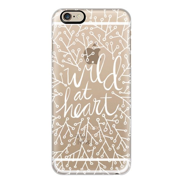 iPhone 6 Plus/6/5/5s/5c Case - Wild at Heart – White ($40) ❤ liked on Polyvore