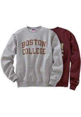Product: 1209F Boston College Crewneck Sweatshirt maroon | Wishful ...