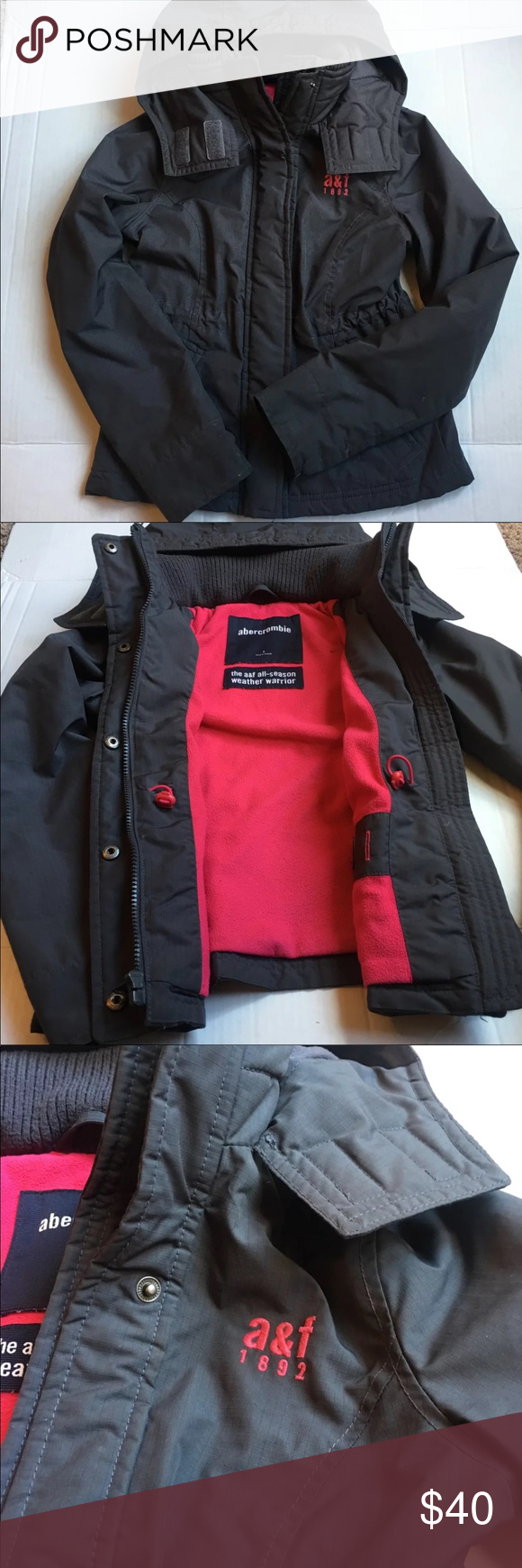 58643086d Girls Abercrombie All Weather Coat Jacket Sz S Girls Abercrombie ...