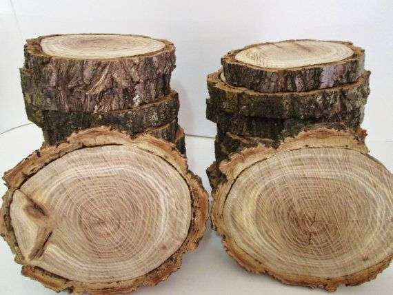 Rustic Tree Slices, Rustic Wood Slices, Wedding Centerpiece, Blank Wood  Rounds, Rustic Table Decor, Rustic Reception Decor On Etsy, $6.00
