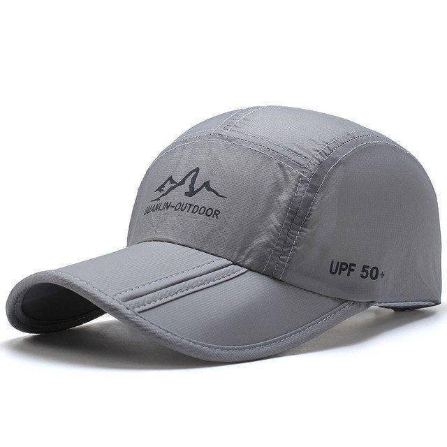 a119e0745df3d Ultra-Thin Quick Drying Folding Baseball Cap Men Women Summer Hat Travel  Sun Shade Hats Z-5119