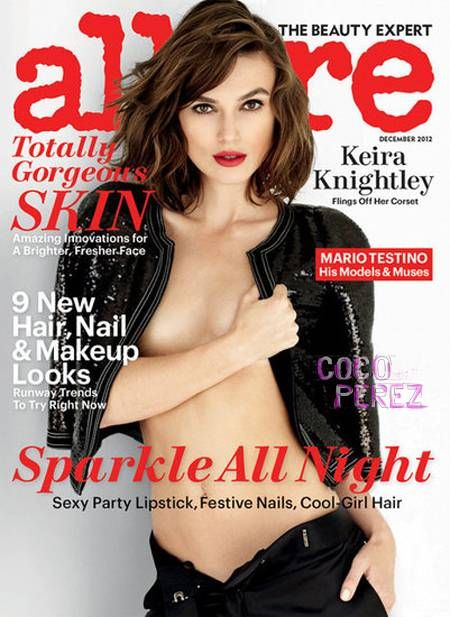 saved Keira Knightley covers Allure December issue.