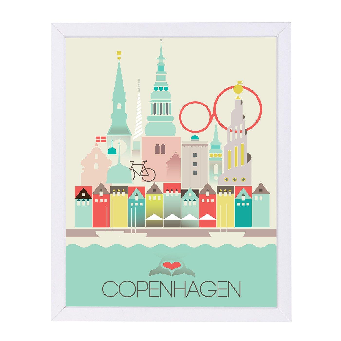 Copenhagen Denmark by Amanda Shufflebotham Framed Print