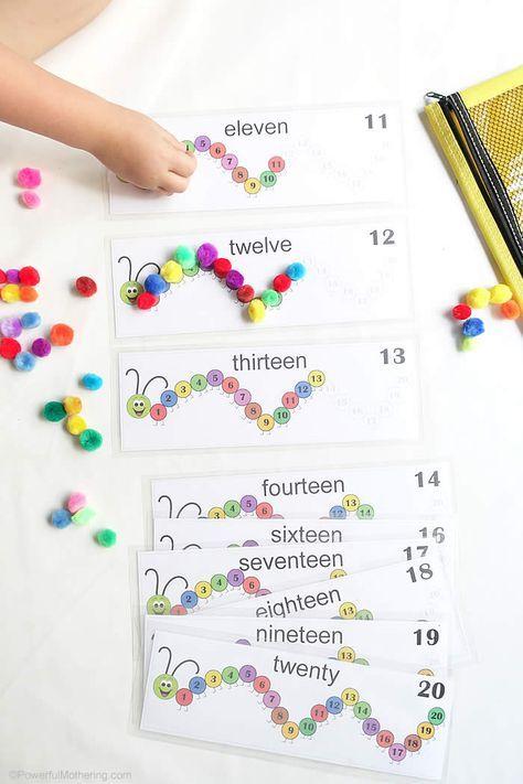 Caterpillar Counting Numbers 11-20 Education Preschool