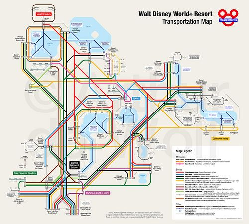 Disney World: Disney World Resort Map 2017