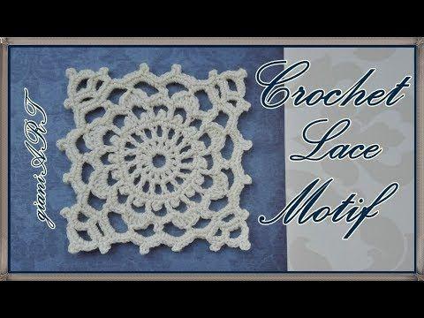 Easy to Crochet Victorian Lace Square Motif | ΠΛΕΞΙΜΟ ΜΕ ΒΕΛΟΝΑΚΙ ...