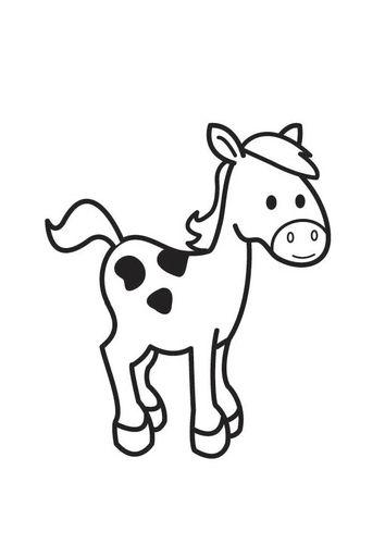 Kleurplaat Paard Dieren Pinterest Farm Activities Coloring