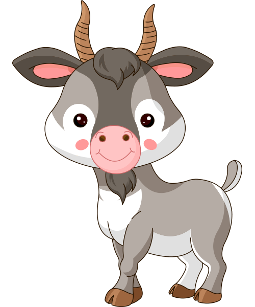 Billy Goat Goat Cartoon Cute Goats Sheep Illustration