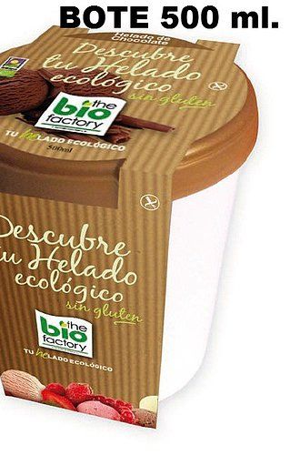 Envase de 500ml helado ecologico The Bio Factory - A Factoria Ecolóxica
