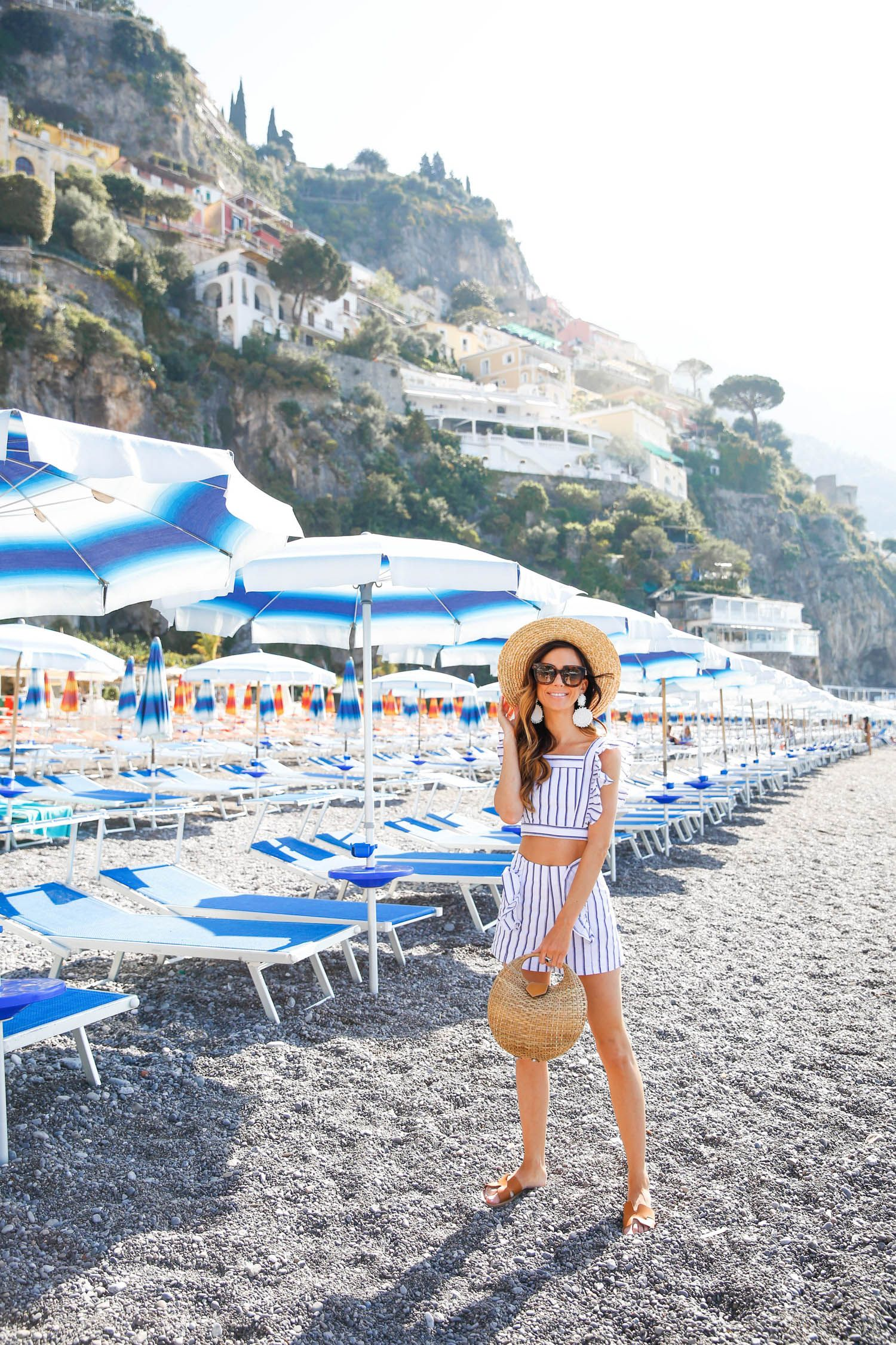 Beach Umbrellas In Positano College Outfits Fashion 4th Of July Date