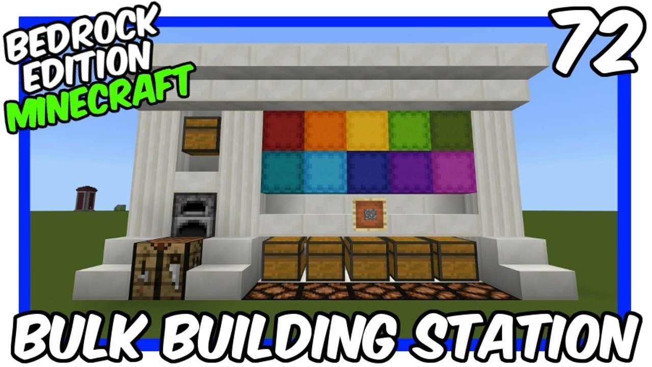 How To Make Pixel Art In Minecraft Bedrock Bulk Building Station Bedrock Edition Minecraft Minecraft Tutorial Minecraft City Buildings
