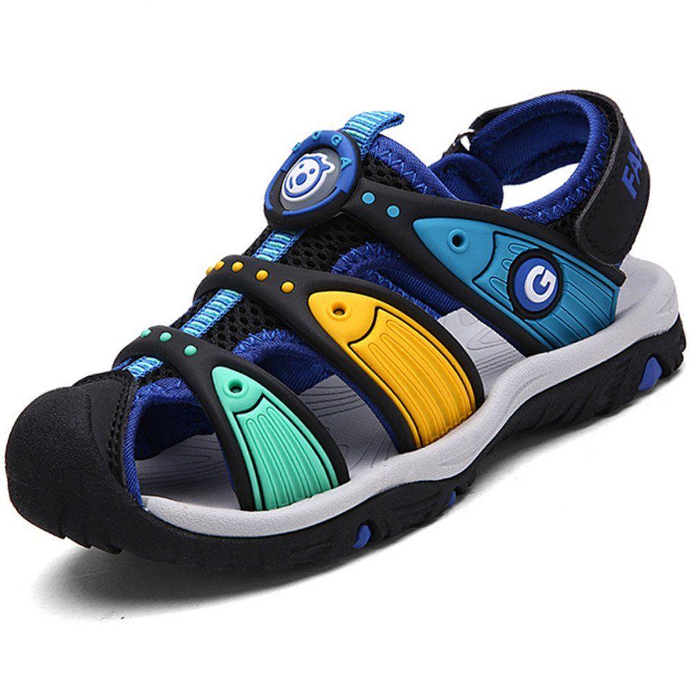 Geschlossene Sandalen Sommer Strand Outdoor Sport Trekking Klettverschluss Schuhe f/ür Kinder Jungen M/ädchen