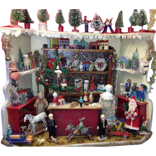 Rare Antique German Miniature Christmas