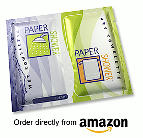 No time for a shower? Take a Paper Shower!  Under $1 per pack~ Free Shipping http://www.papershower.com/shop/