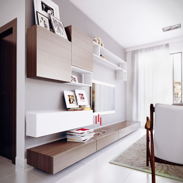 Intérieur design moderne par le créateur vietnamien Koj Étagères