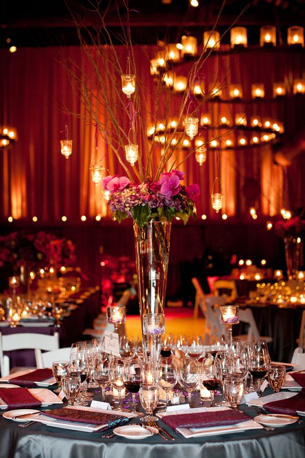 Rent A Trumpet Or Pilsner Vase For A Tall Wedding Centerpiece With