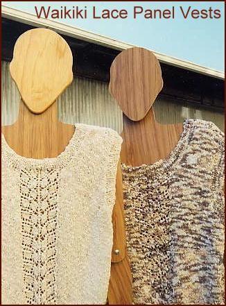 Waikiki Lace Panel Sleeveless Vest Free Knitting Pattern From