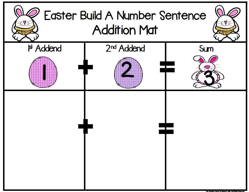 Easter Build 2 Addend 0 20 Addition Amp Subtraction Number