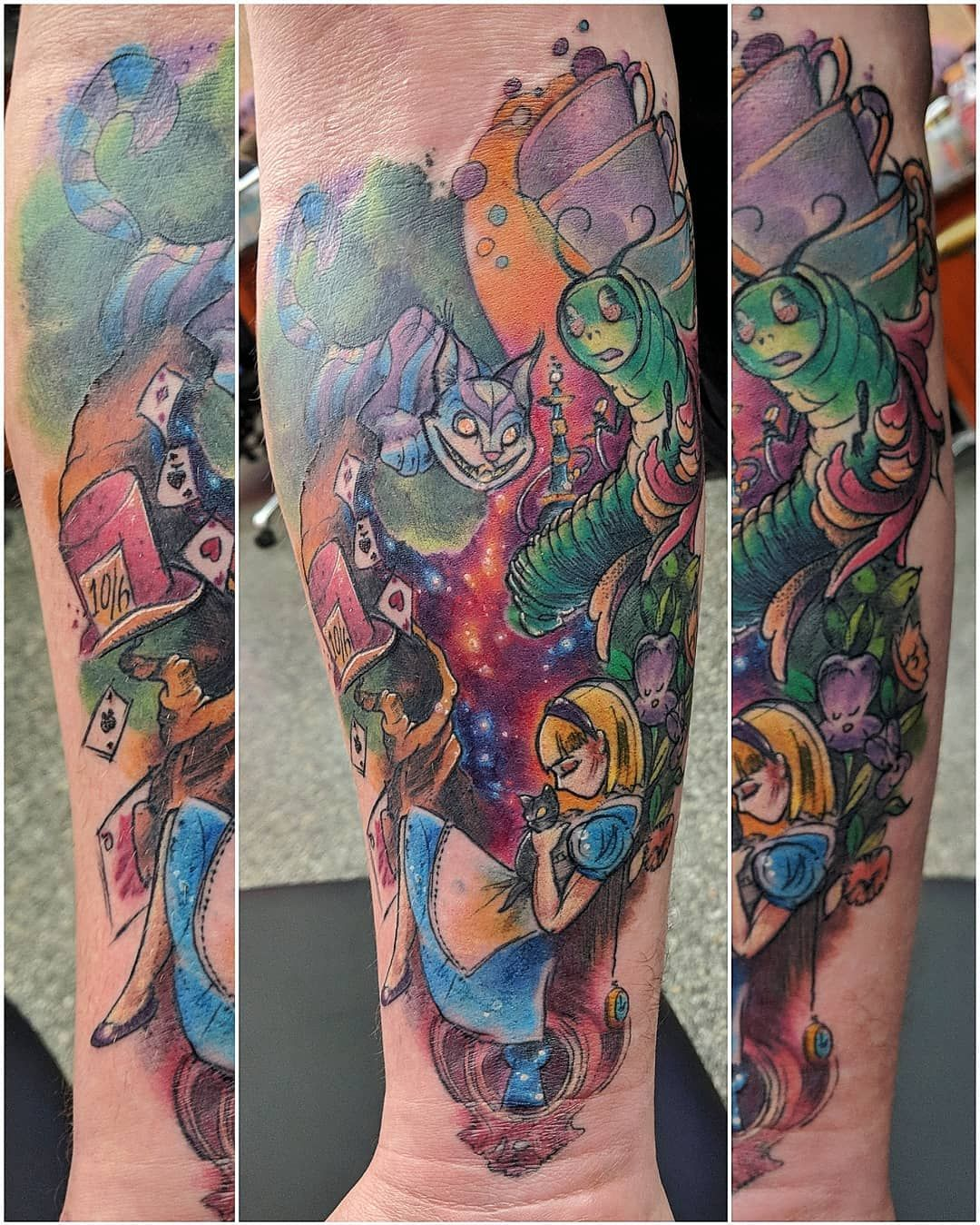 My finished Alice in Wonderland piece by Amy Zagar at Tattoo Factory ...