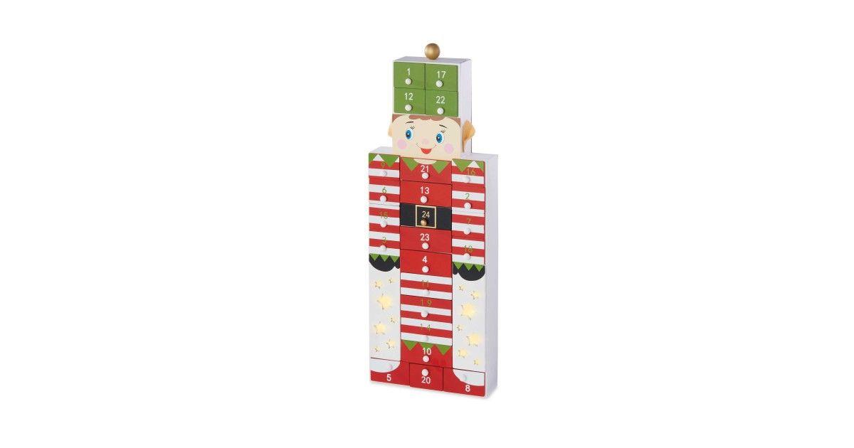 Find Wooden Elf Led Advent Calendar At Aldi Advent Calendar