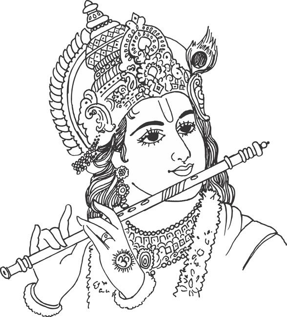 Gods Clipart 236 Drawings Lord Krishna Sketch Sketches