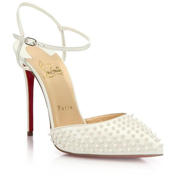 fa411ba9d96 Christian Louboutin Baila Spiked Patent Leather Ankle-Strap Pumps ...
