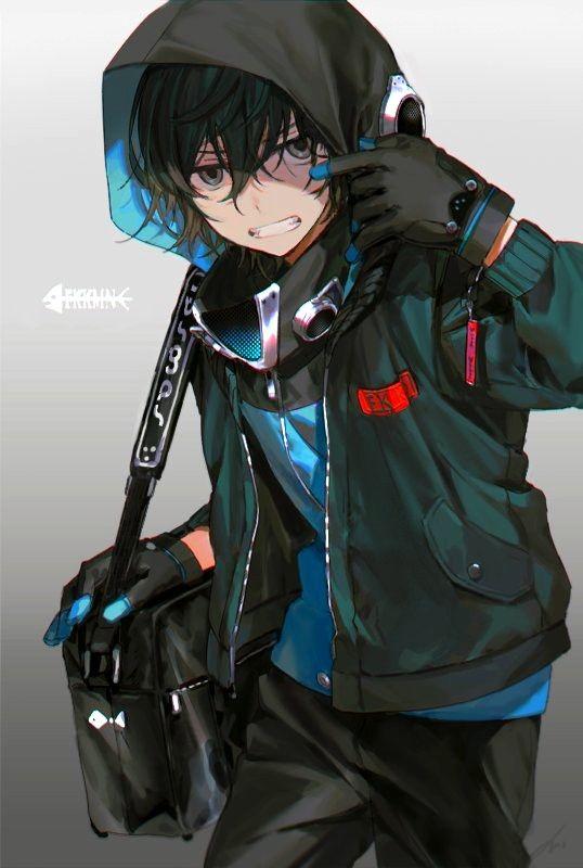 Anime Guy Green Hair Jacket Anime Boy Smile Manga Anime Anime Jacket