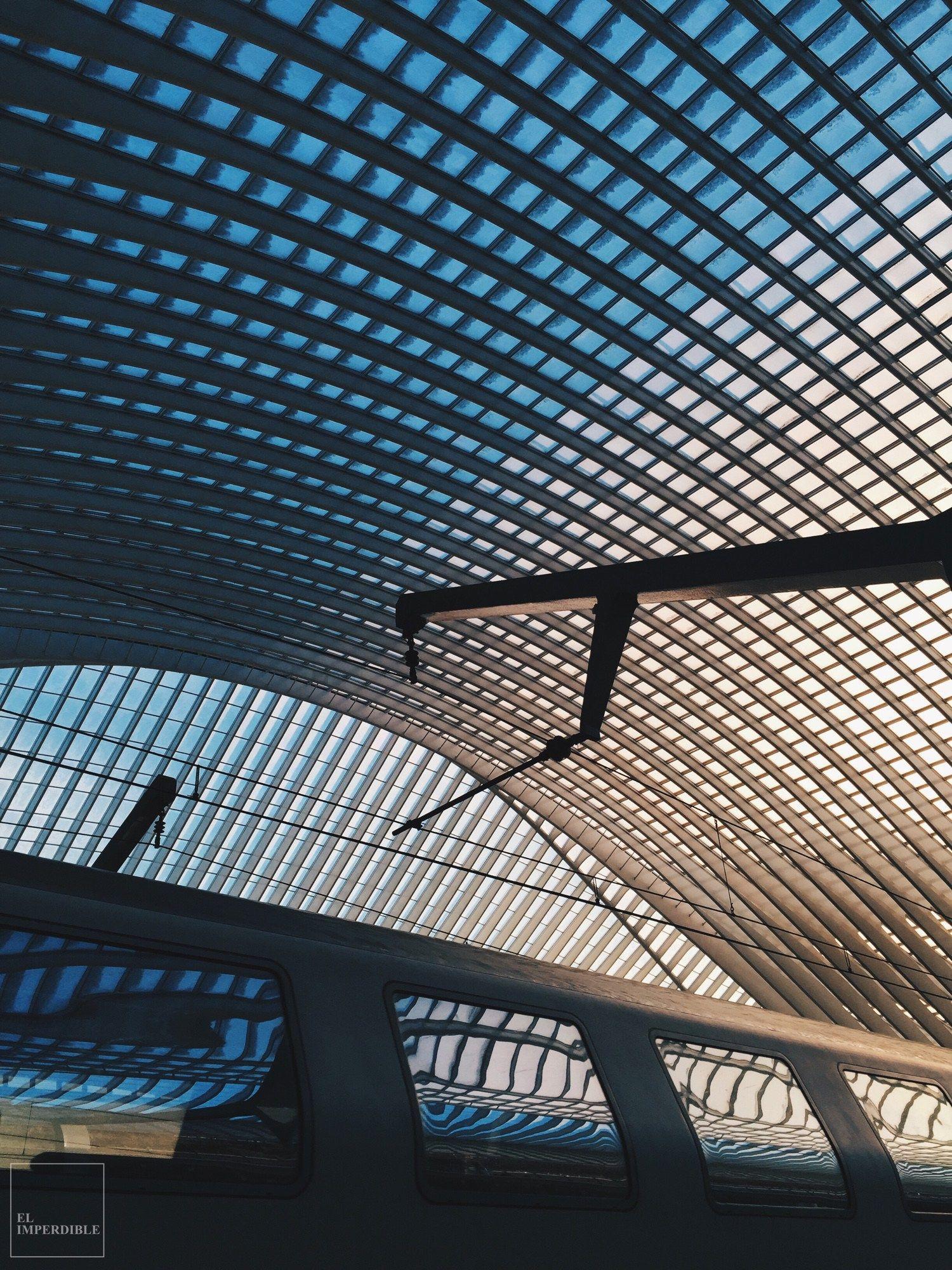La estación de tren de Lieja, diseñada por Calatrava, es una obra monumental. Foto por Asier G. Morato