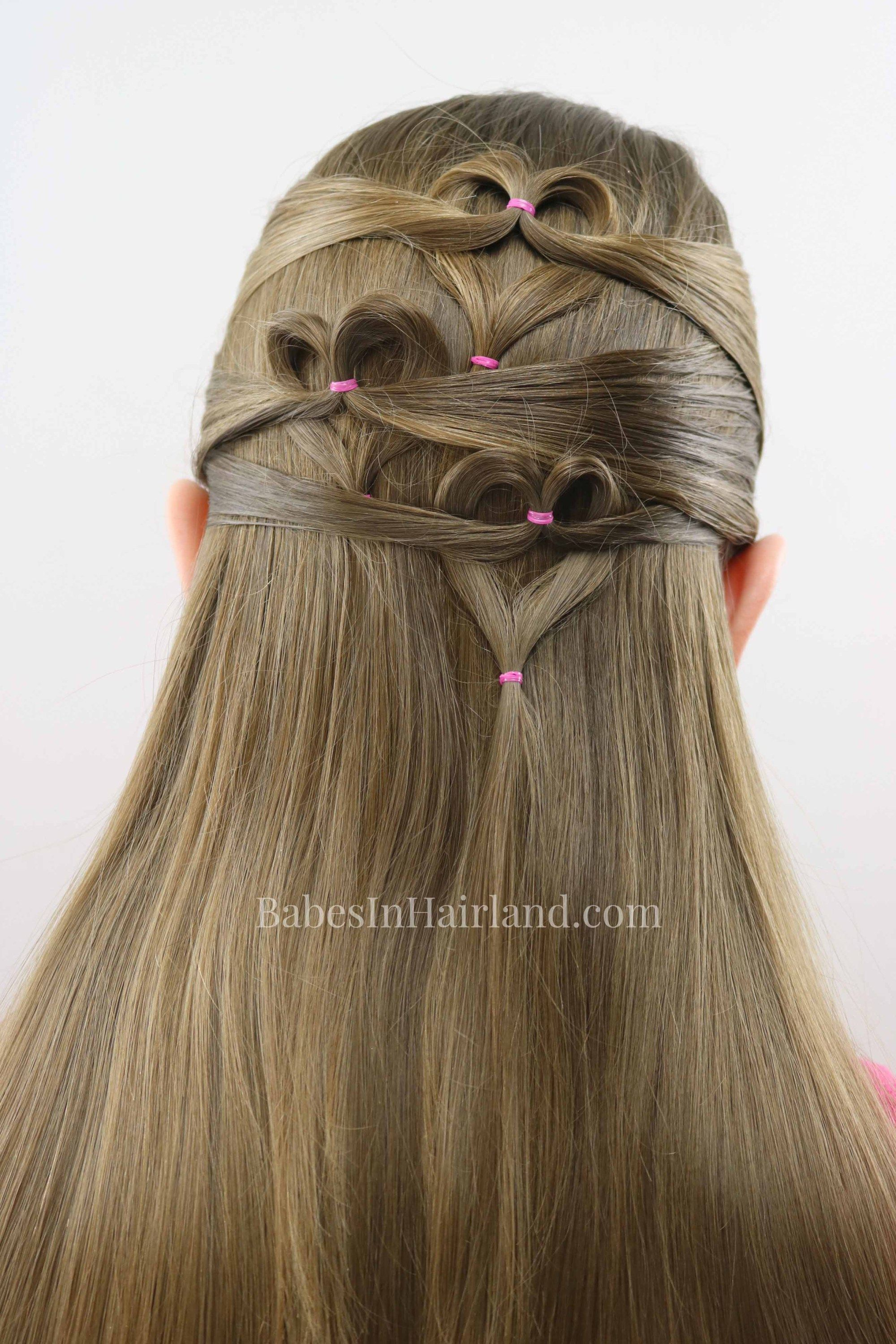 Need A Cute Valentines Day Heart Hairstyle But Dont Have Much Time