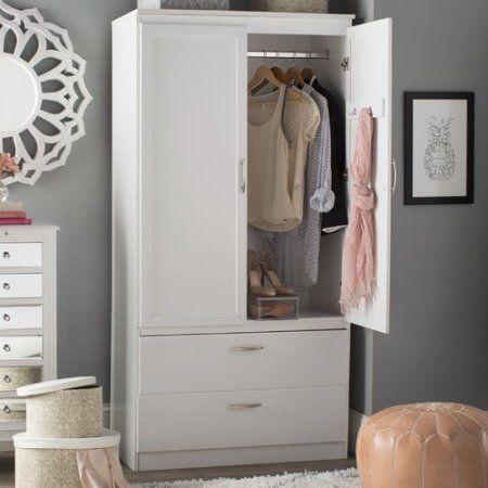 South Shore Acapella Wardrobe Armoire Multiple Finishes Walmart Com In 2020 Wardrobe Armoire Bedroom Armoire Small Bedroom Remodel