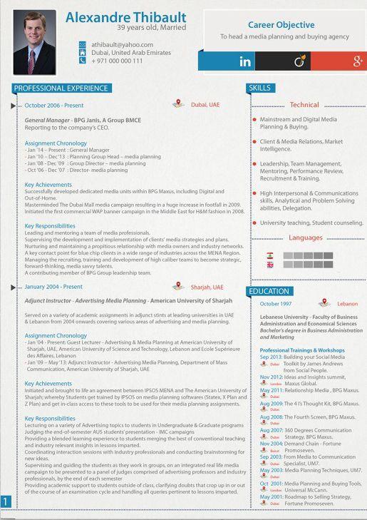 CV Directeur Général | Directeur général, Modèle cv et Cv ...