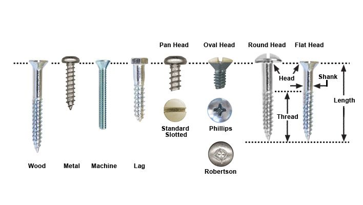 Different Types Of Screws And Their Uses Mutual Screw