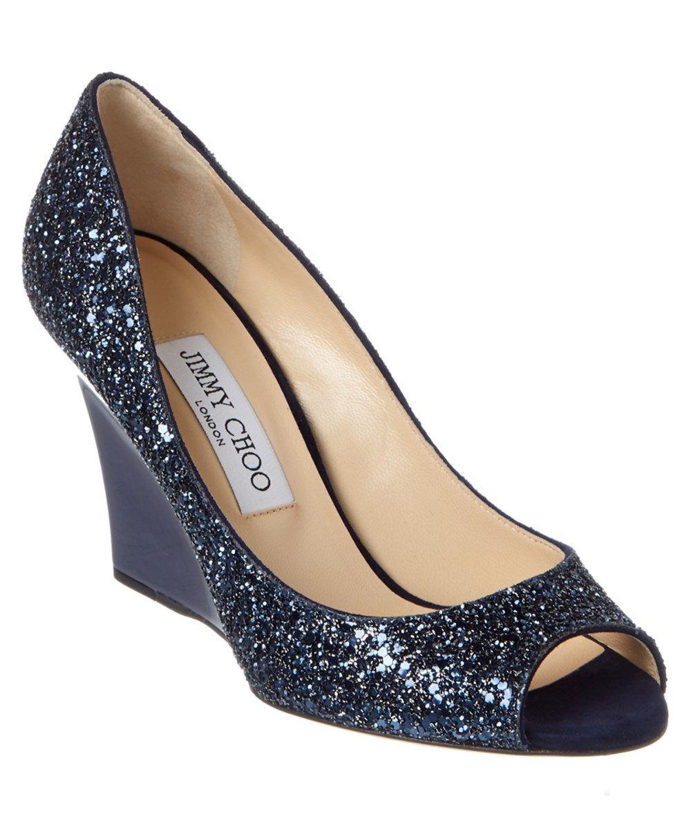 f82c498ee76 JIMMY CHOO Jimmy Choo Baxen Glitter Fabric Wedge .  jimmychoo  shoes   sandals
