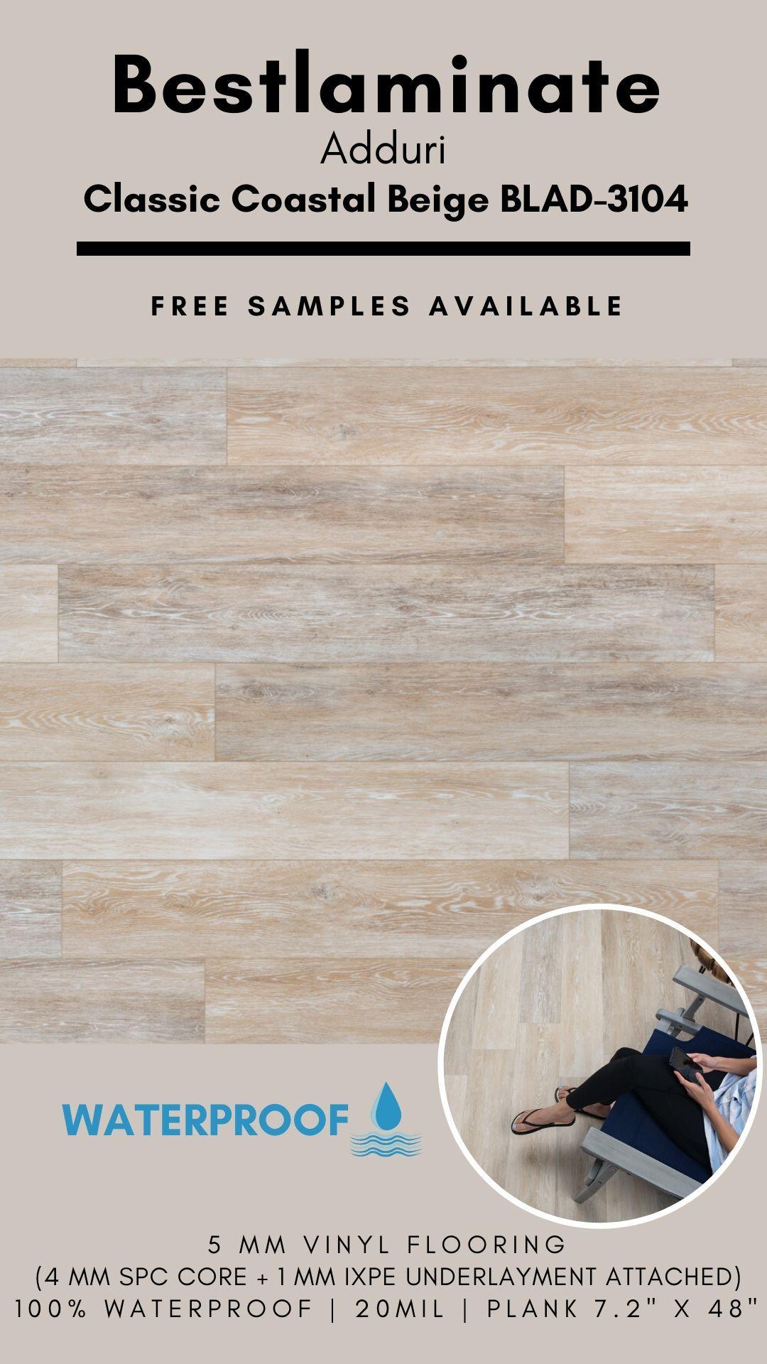Bestlaminate Adduri Classic Coastal Beige Blad 3104 Luxury Spc Vinyl Flooring In 2020 Vinyl Flooring Flooring Luxury Vinyl Plank Flooring